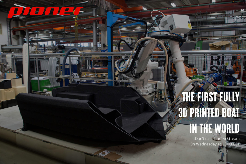 Livestream – sjøsetting av verdens første 3D printede båt i ett stykke